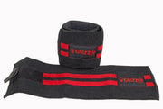 "Grizzly Fitness 3"" Premium Red Line Weight Lifting Wrist Wraps for Men and Women (11"" Long One-Size Pair)"