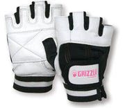 Grizzly Paw Premium Leather Padded Weight Training Gloves for Men and Women (Pair)