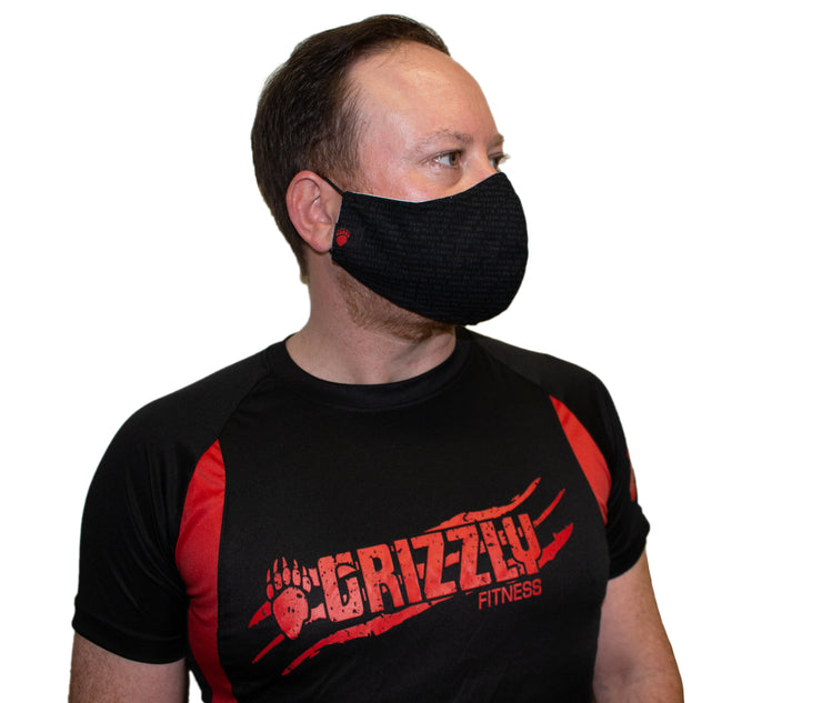 Grizzly Fitness Motivational Facemask - Mens