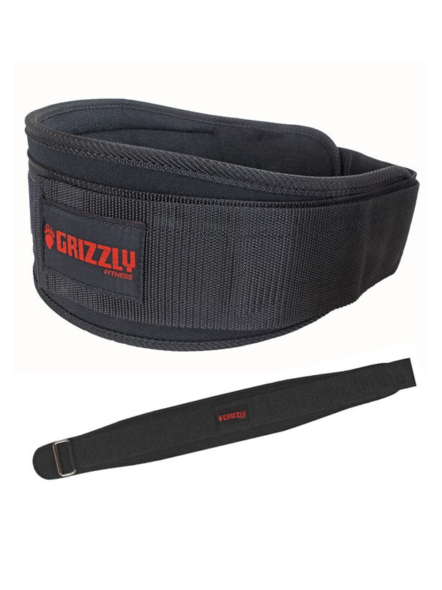 Grizzly Fitness Soflex Nylon Pro Weight Training Belt for Men and Women