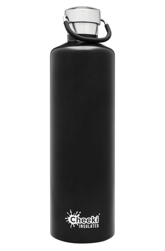 Cheeki 1 Litre Insulated Bottle - Matte Black