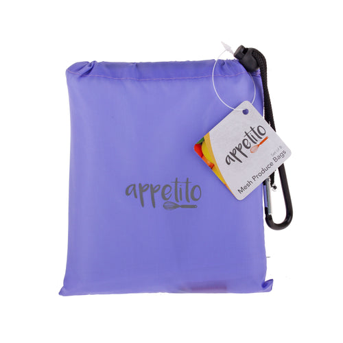 Mesh Produce Bag Set of 8 - Purple Pouch
