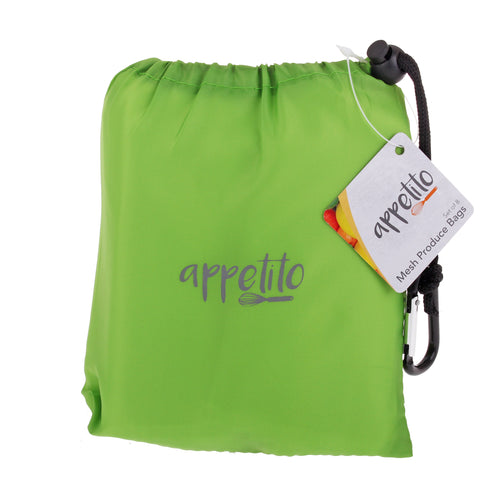 Mesh Produce Bag Set of 8 - Green Pouch