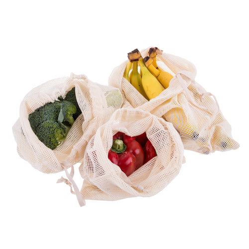 Cotton Mesh Produce Bag Set of 3