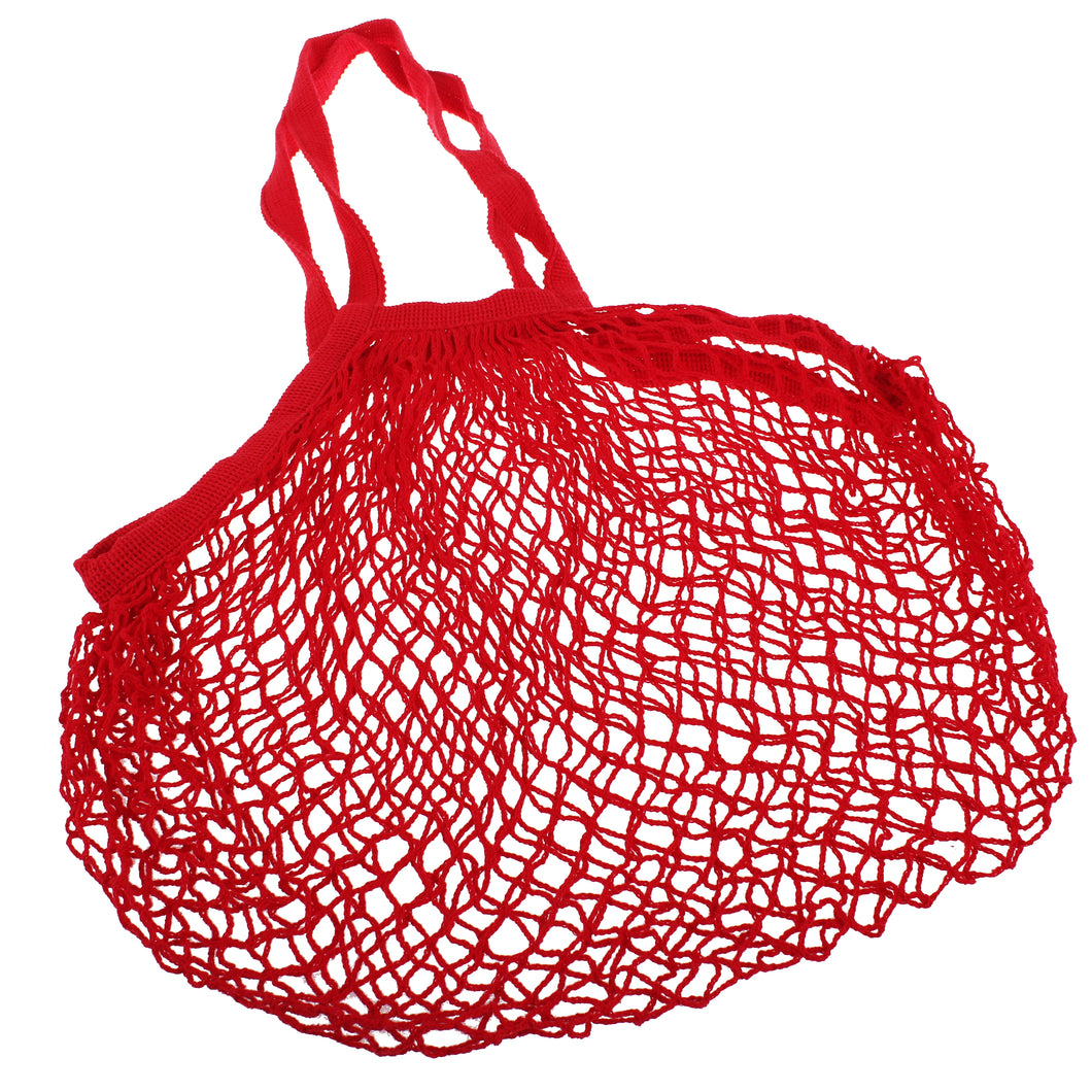 Sachi Cotton String Bag Long Handle - Red