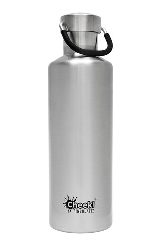 Cheeki 600ml Insulated Bottle - Silver