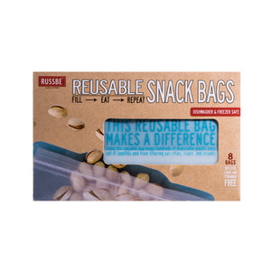 Russbe Reusable Snack Bags Set of 8 - Blue