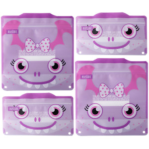 Russbe Reusable Snack/Sandwich Bags Set of 4 - Purple Monster