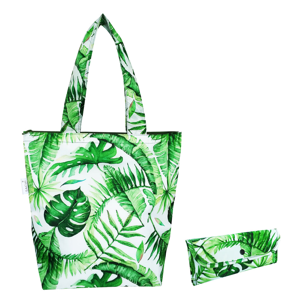 Sachi Insulated Market Tote - Jungle Leaf