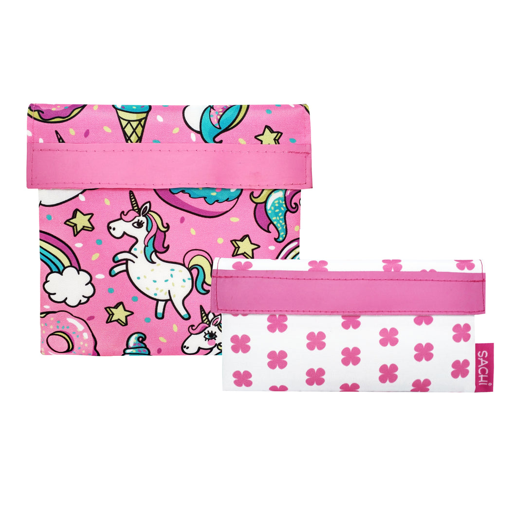 Sachi Lunch Pocket Set of 2 - Unicorns