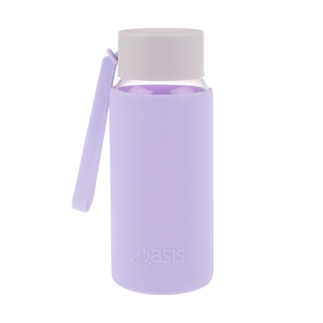 Oasis Glass Water Bottle 500ml - Lilac
