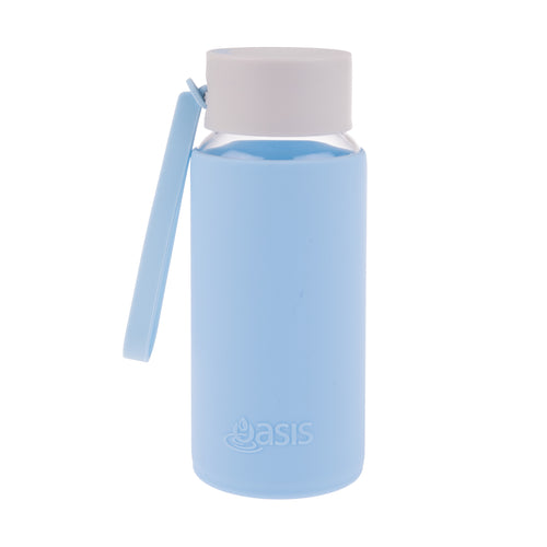 Oasis Glass Water Bottle 500ml - Powder Blue