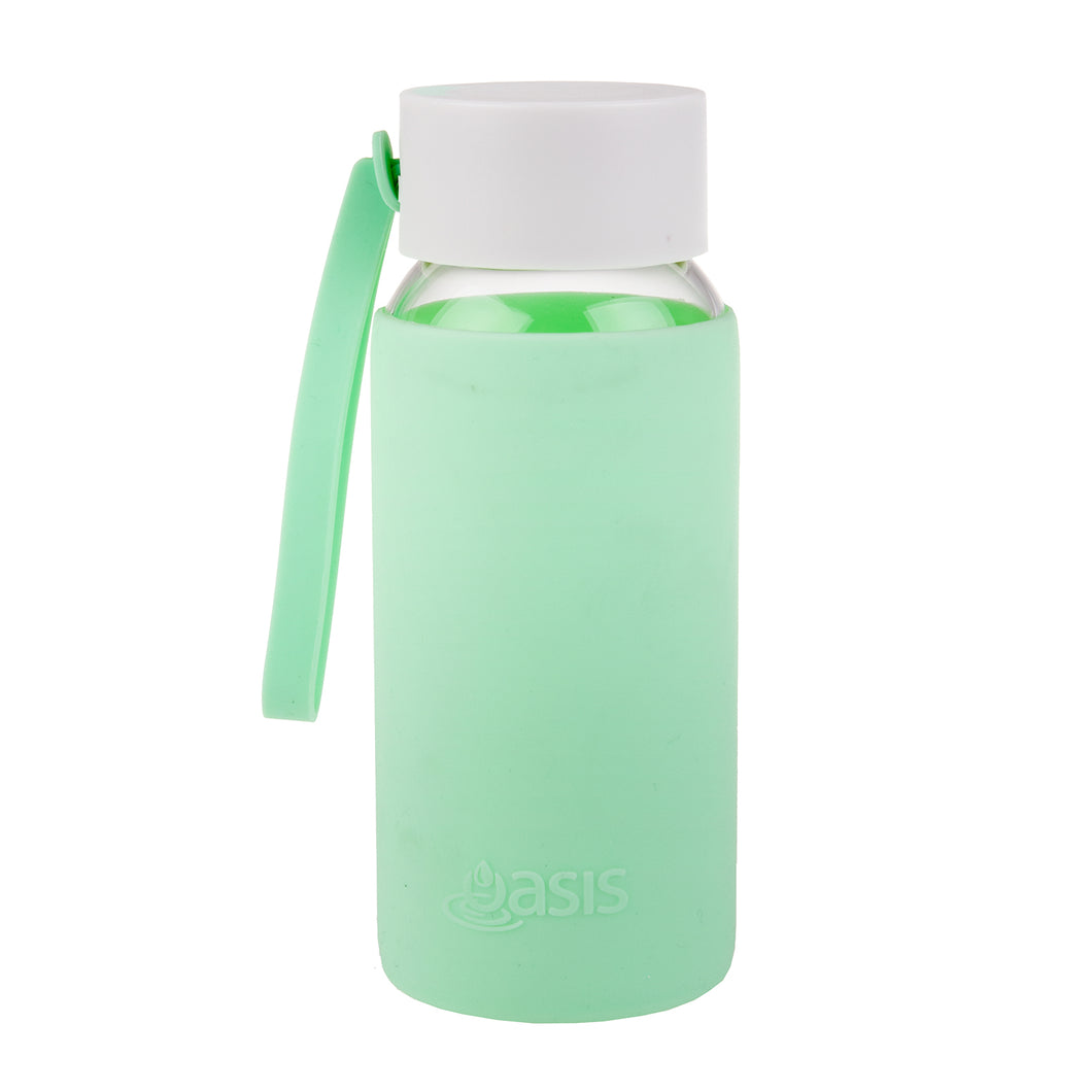 Oasis Glass Water Bottle 500ml - Spearmint