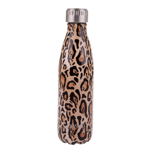 Oasis Stainless Steel Insulated Water Bottle 500ml - Leopard Print