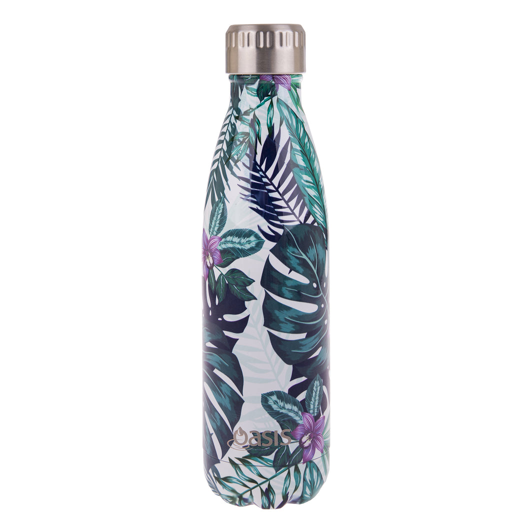 Oasis Stainless Steel Insulated Water Bottle 500ml - Tropical Paradise