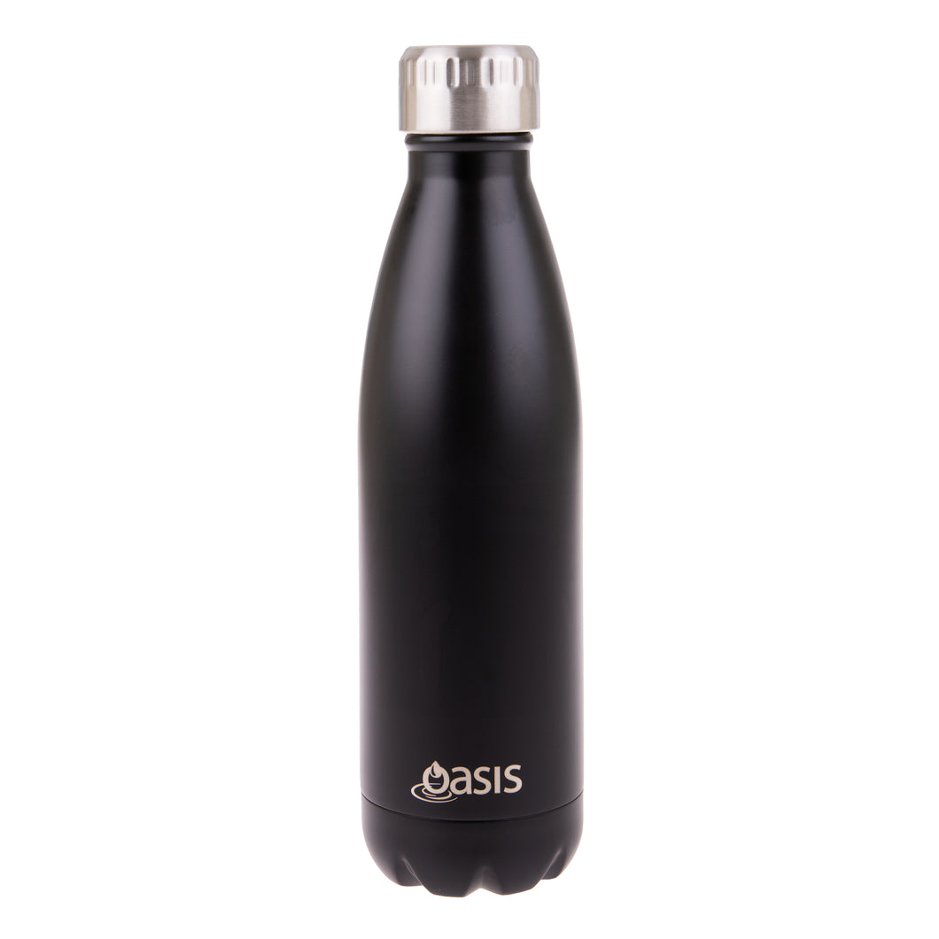 Oasis Stainless Steel Insulated Water Bottle 500ml - Matte Black