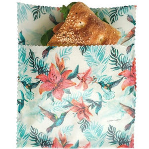 LilyBee Wraps - Large Sandwich Bag Hummingbird