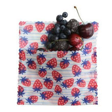 Load image into Gallery viewer, LilyBee Wraps - Medium Snack Bag Strawberry Fields