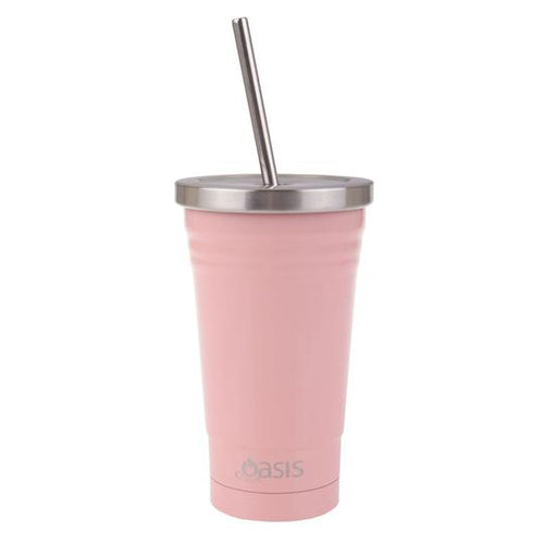 Oasis Stainless Steel Insulated Smoothie Tumbler 500ml - Soft Pink
