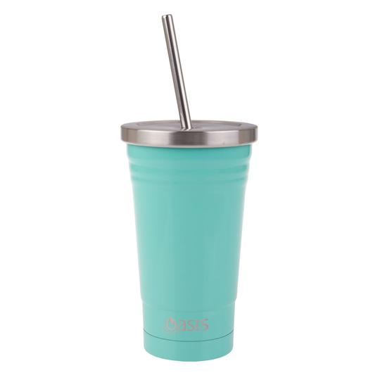 Oasis Stainless Steel Insulated Smoothie Tumbler 500ml - Spearmint