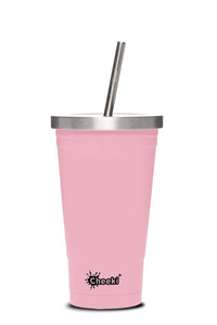 Cheeki 500ml Insulated Tumbler - Pink
