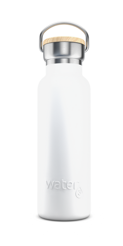 Water3 500ml Stainless Steel Insulated Bottle - Whitehaven White