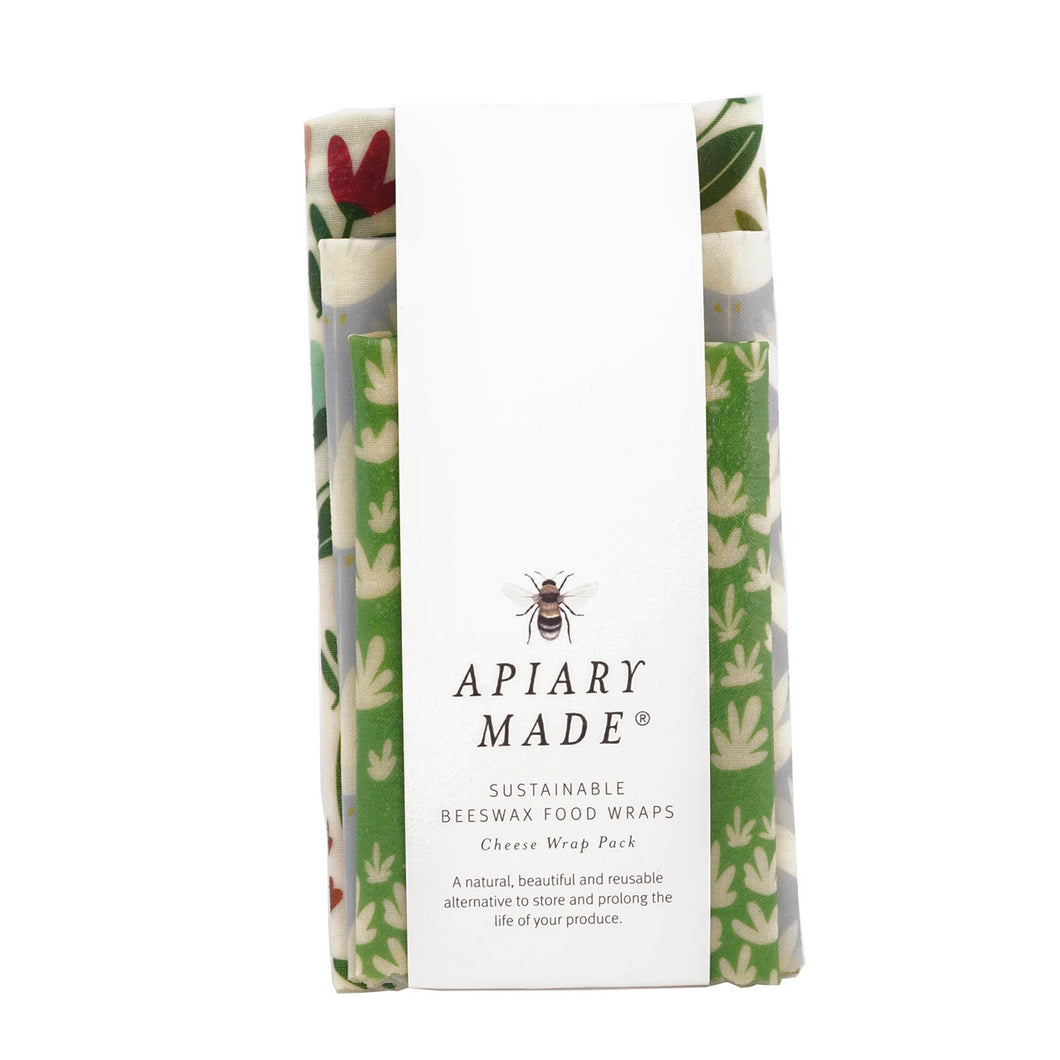 Apiary Made 3pk Beeswax Wraps - Cheese and Smallgoods