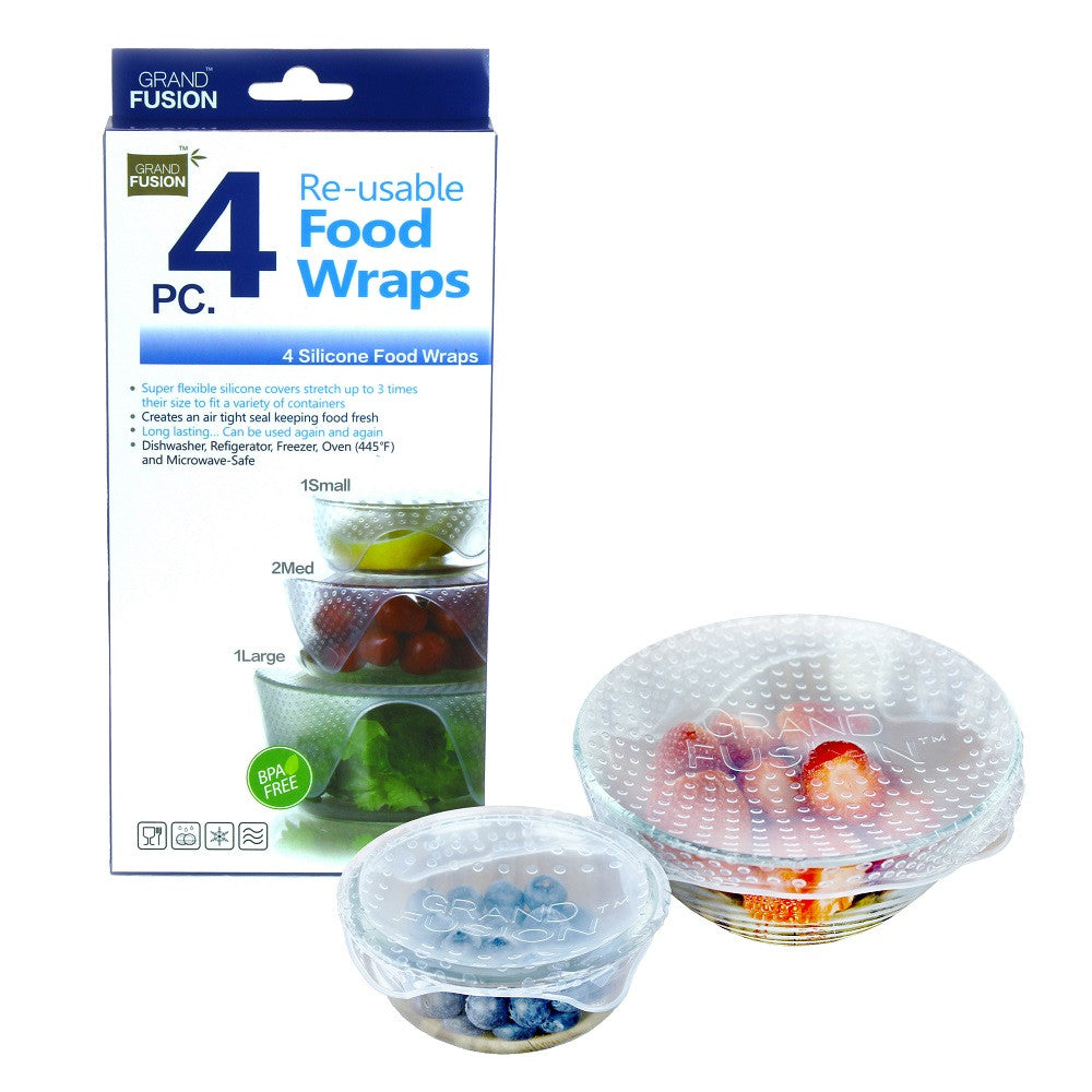 Grand Fusion Silicone Food Covers Set of 4
