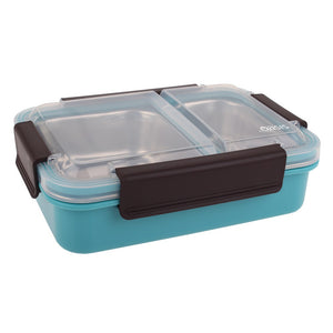 Oasis Stainless Steel 2 Compartment Lunch Box - Turquoise