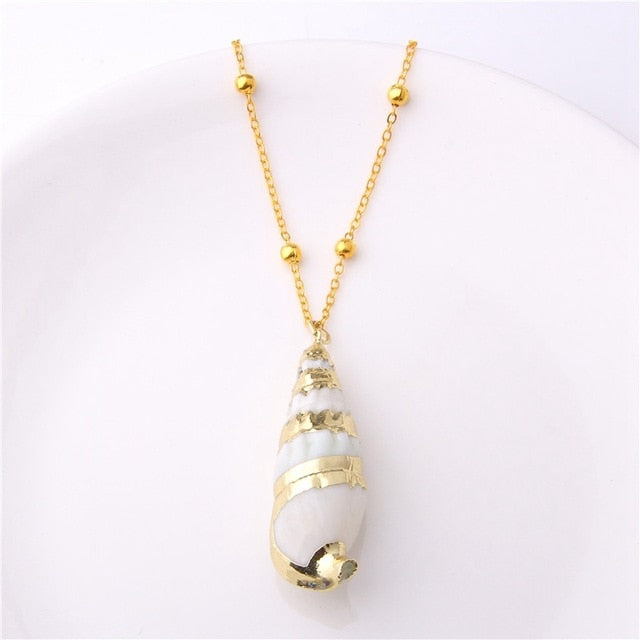 Golden Seashell Necklace