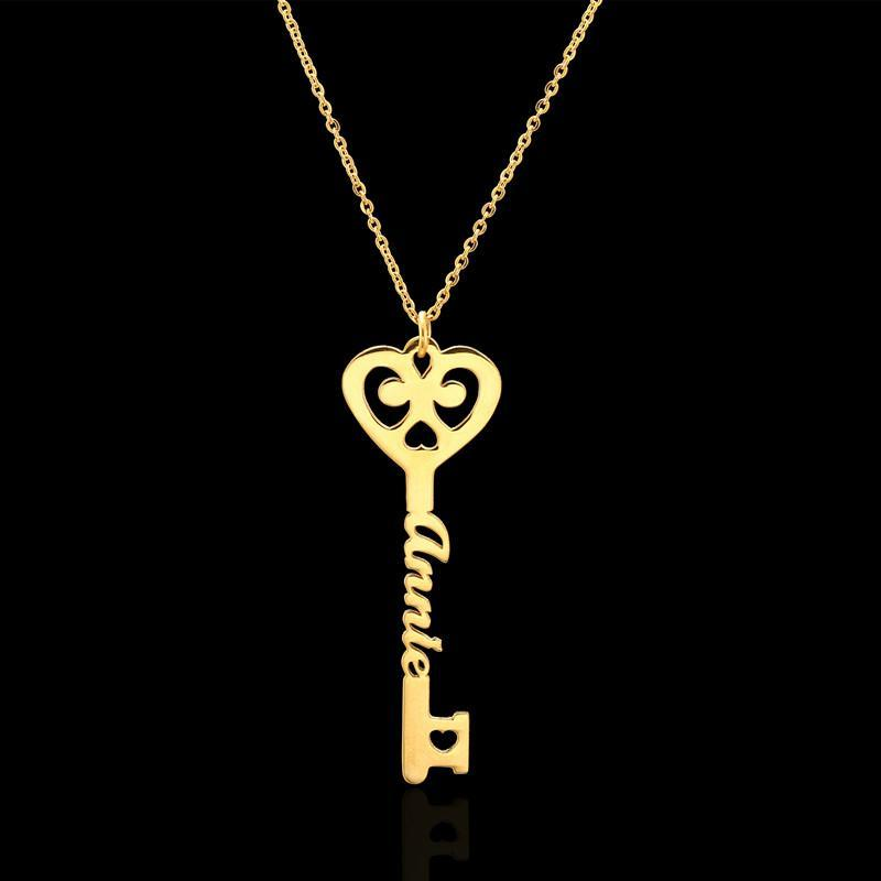 Key to Love Name Necklace