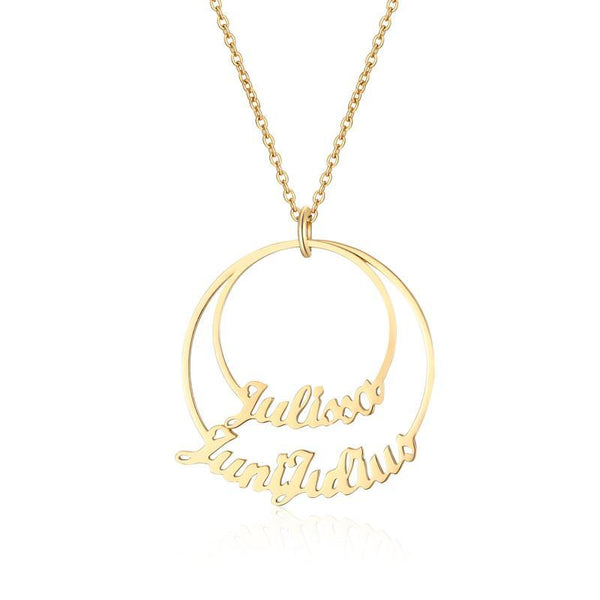 Two Disc Name Necklace