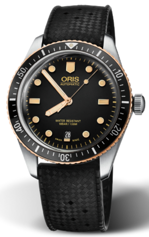 ORIS DIVERS SIXTY-FIVE AUT 40 MM ACC/CAU QUADR NERO 73377074354-0742018