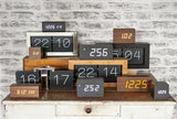 KARLSSON TABLE CLOCK SQUARE NERO
