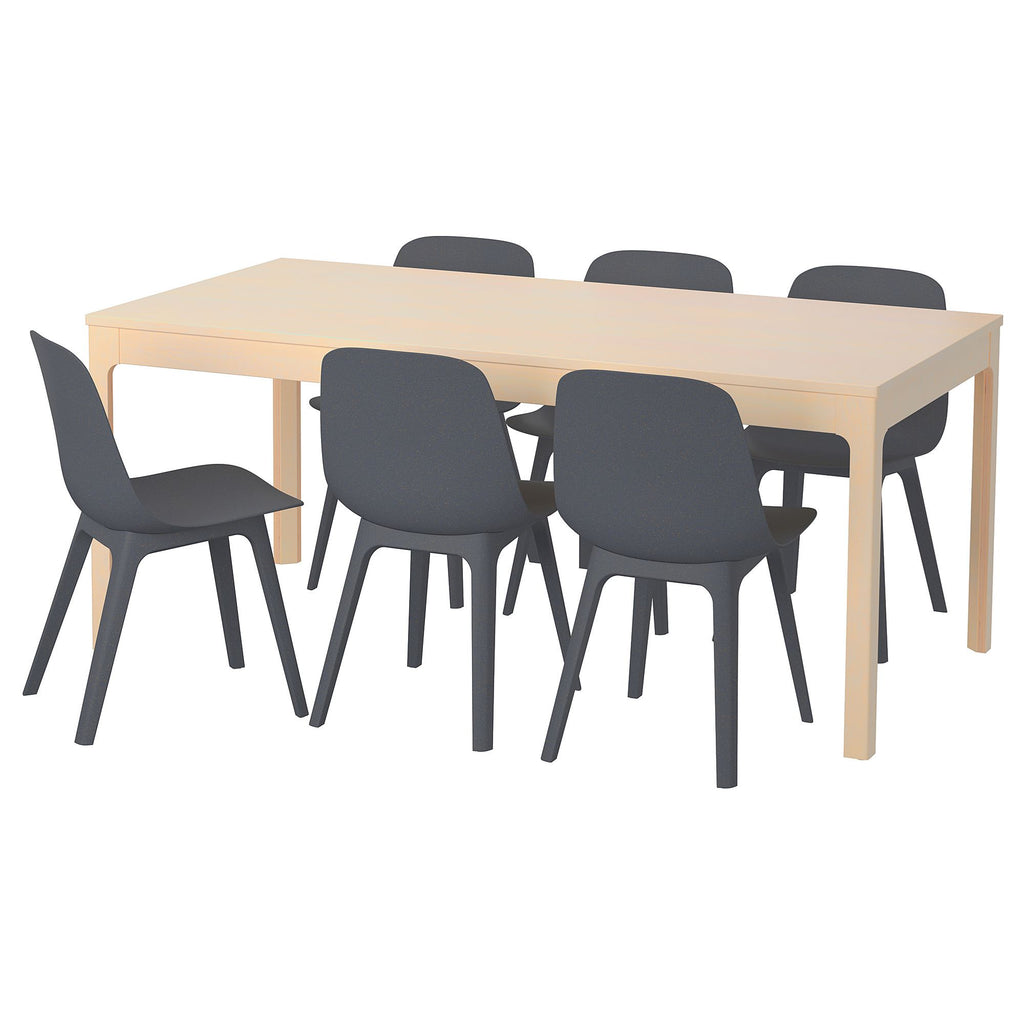 9fc5773c395 EKEDALEN ODGER extendable table and chairs