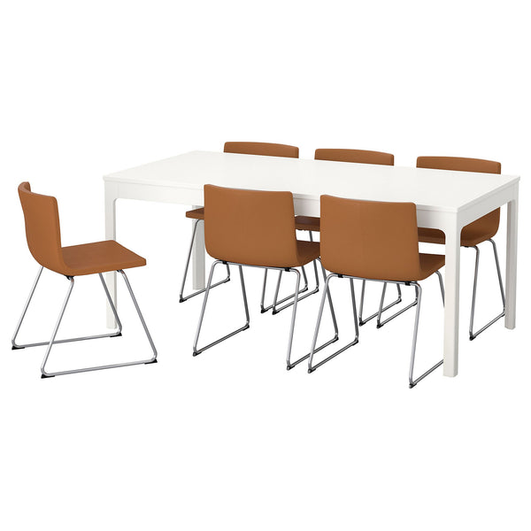 e197120063a EKEDALEN BERNHARD dining table and chairs