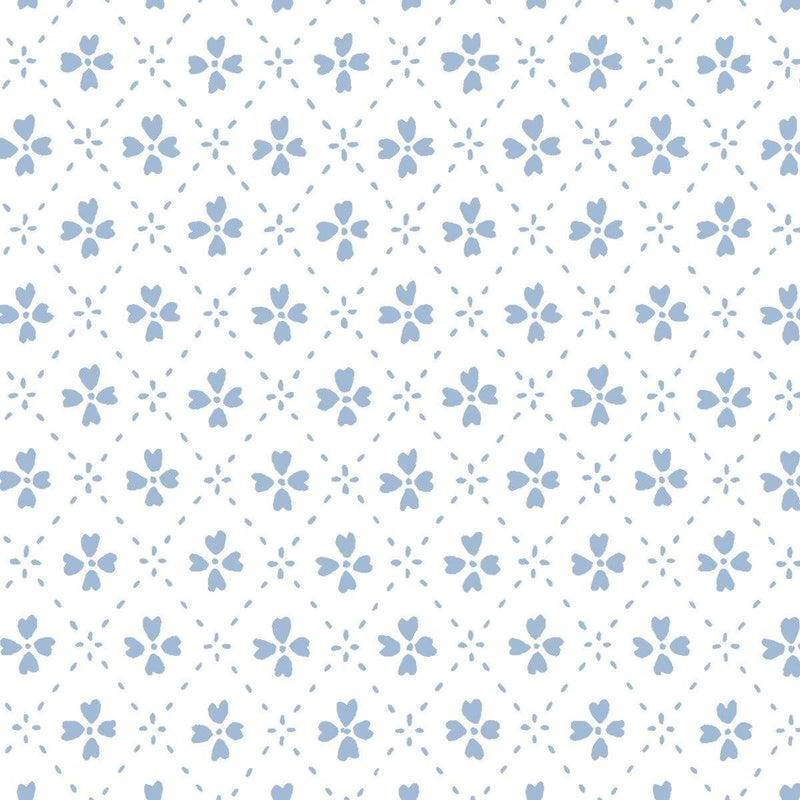 Anna Spiro Wallpaper 1 x Light Blue Paniola Inverted Wallpaper Roll Anna Spiro Inverted Wallpaper 8 Colours