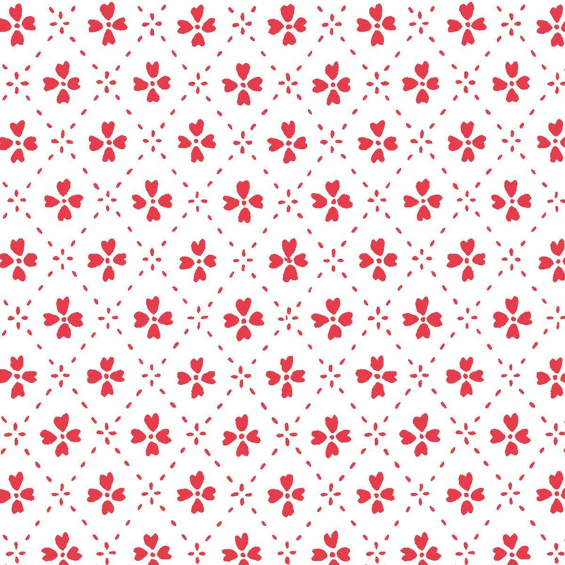Anna Spiro Wallpaper 1 x Red Paniola Inverted Wallpaper Roll Anna Spiro Inverted Wallpaper 8 Colours