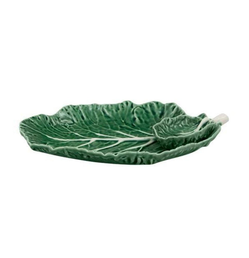 Bordallo Pinheiro Bowl 1 x 28 cm Cabbage Bowl with side bowl Bowl Cabbage Leaf with Bowl 2 sizes