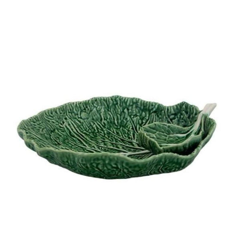 Bordallo Pinheiro Bowl 1 x 34 cm Bowl with bowl Bowl Cabbage Leaf with Bowl 2 sizes