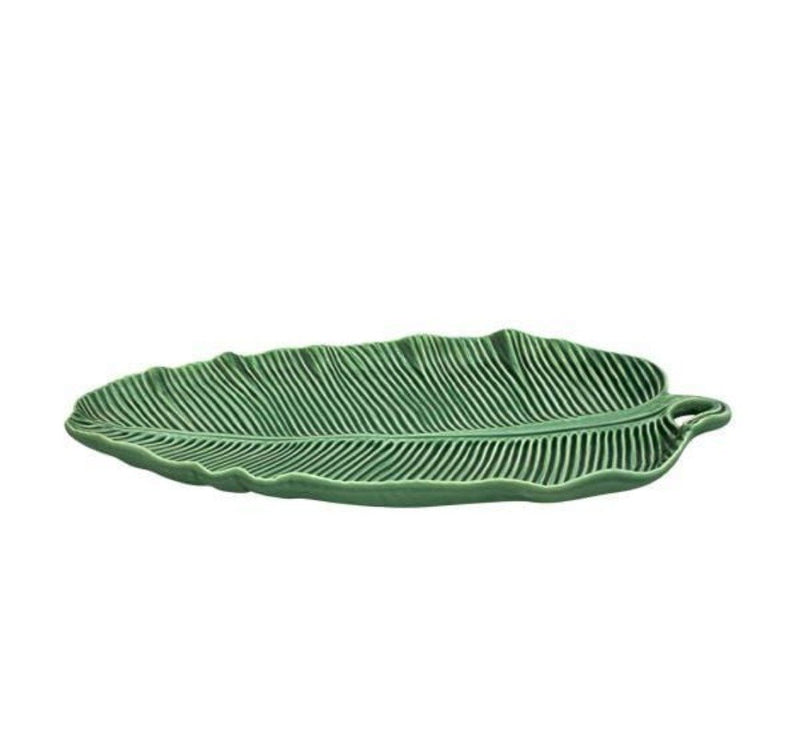 Bordallo Pinheiro Platter 1 x Medium Banana Platter Platter Banana Leaf Rectangle 2 Sizes