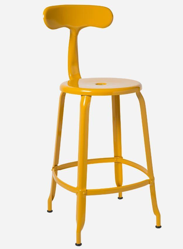 Chaises Nicolle Bar stools 1 x Daffodil Yellow Gloss Nicolle Bar Stool 60 cm Nicolle Bar Stool Medium 8 Colours