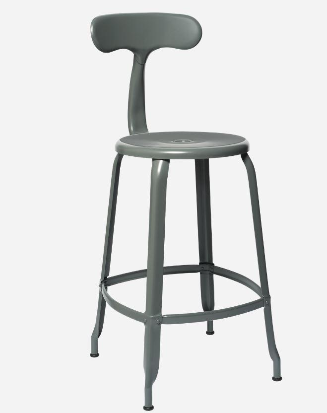 Chaises Nicolle Bar stools 1 x Matt Basalt Grey Nicolle Bar Stool 60 cm Nicolle Bar Stool Medium 8 Colours