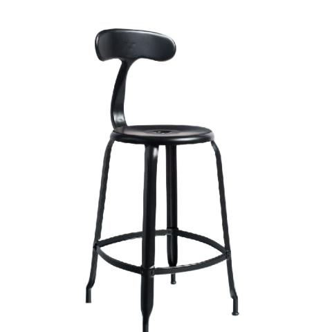 Chaises Nicolle Bar stools 1 x Matt Black Nicolle Bar Stool 60 cm Nicolle Bar Stool Medium 8 Colours
