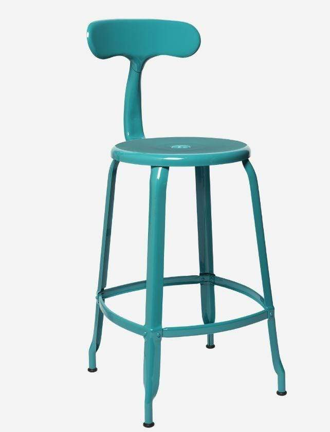Chaises Nicolle Bar stools 1 x Nicolle Bar Stool Turquoise Blue Glossy 60 cm Nicolle Bar Stool Medium 8 Colours