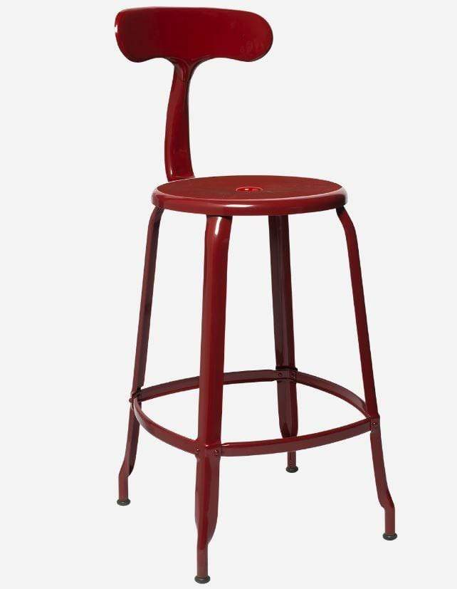 Chaises Nicolle Bar stools 1 x Red Brown Gloss Nicolle Bar Stool 60 cm Nicolle Bar Stool Medium 8 Colours