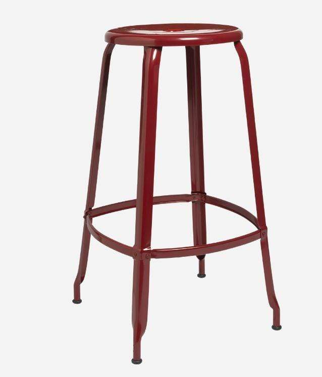 Chaises Nicolle Bar stools 1 x Red Brown Gloss Nicolle Stool 75 cm Nicolle Stool 75 cm High 8 Colours