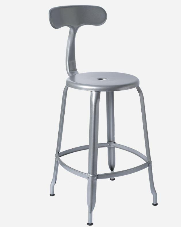 Chaises Nicolle Bar stools 1 x Steel Grey Nicolle Bar Stool 60 cm Nicolle Bar Stool Medium 8 Colours