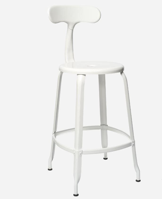 Chaises Nicolle Bar stools 1 x White Gloss Nicolle Bar Stool 60 cm Nicolle Bar Stool Medium 8 Colours
