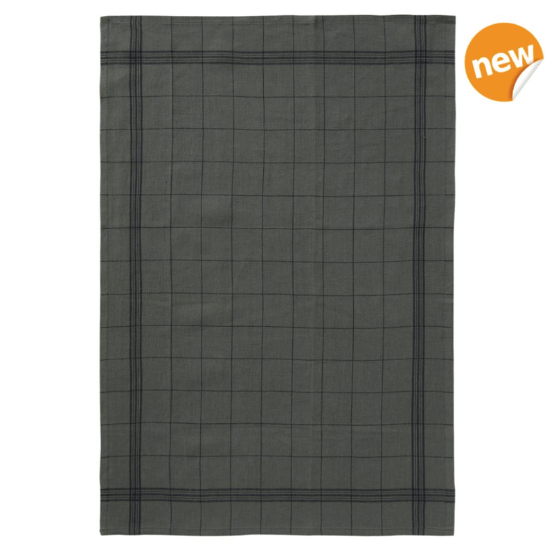 Charvet Editions Tea Towel 1 x Green French Check Tea Towel Tea Towel French Check 3 Colours